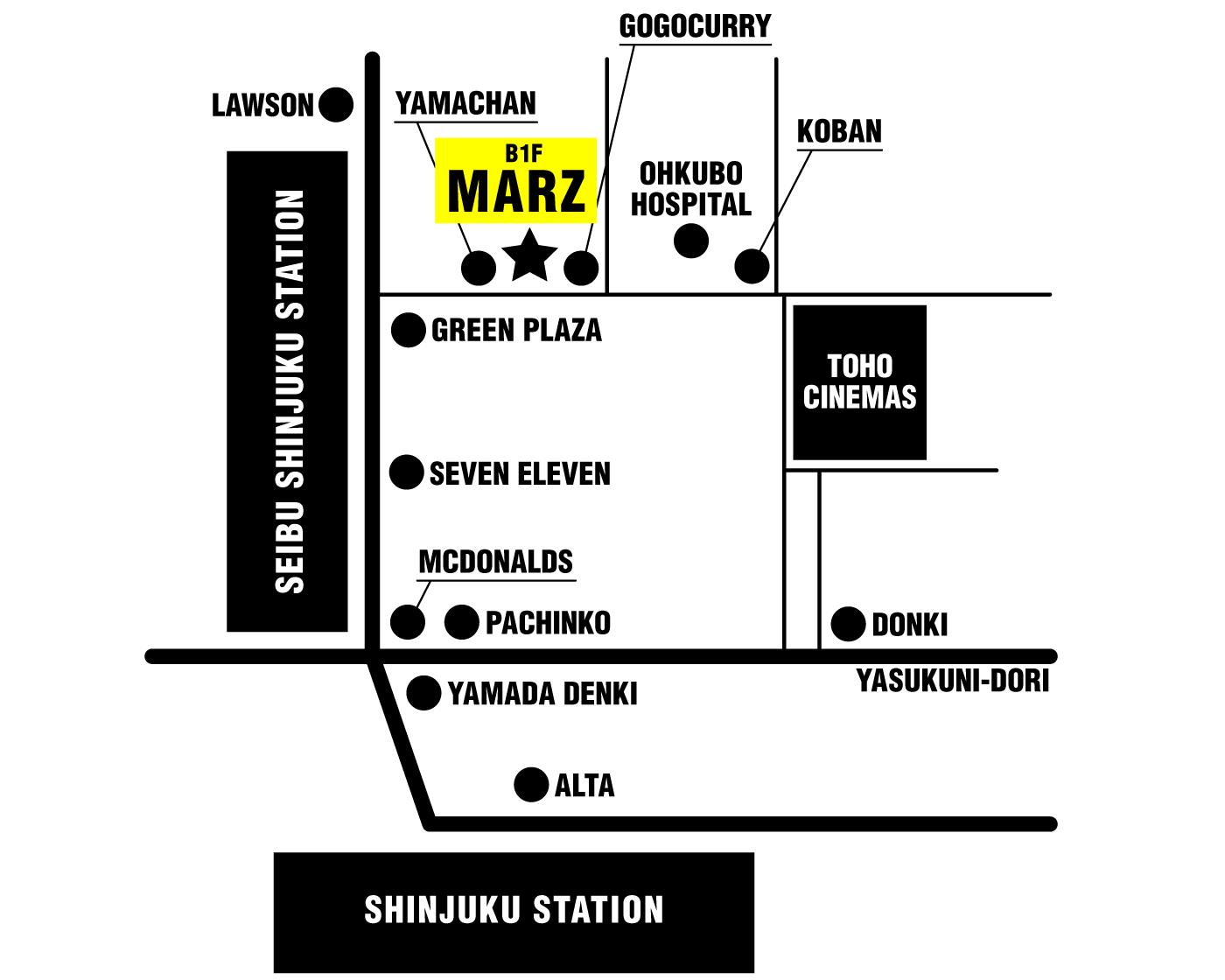 1月21日(木)新宿MARZイベントライブ出演